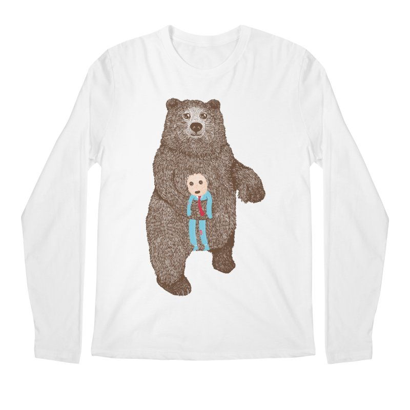 A Bear's Best Friend Men's Longsleeve T-Shirt by The Illustration Booth Shop