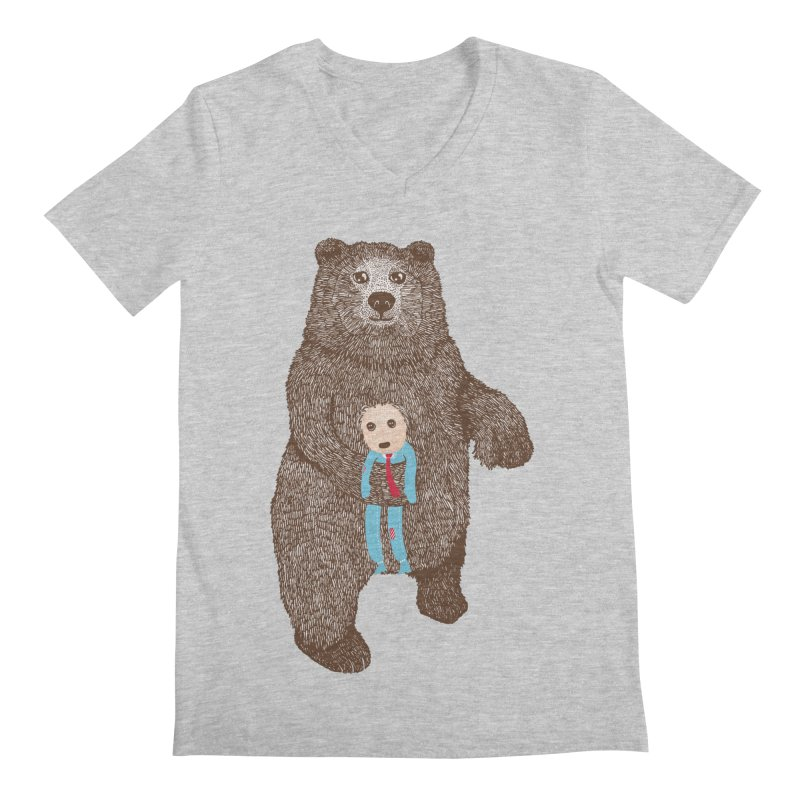 A Bear's Best Friend Men's V-Neck by The Illustration Booth Shop