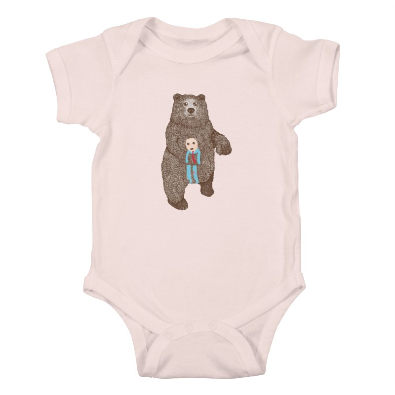 A Bear's Best Friend Kids Baby Bodysuit by The Illustration Booth Shop