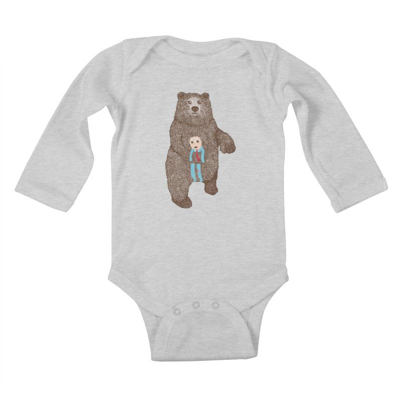 A Bear's Best Friend Kids Baby Longsleeve Bodysuit by The Illustration Booth Shop