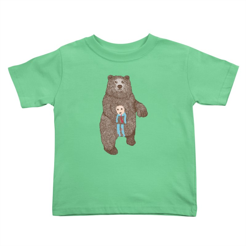 A Bear's Best Friend Kids Toddler T-Shirt by The Illustration Booth Shop