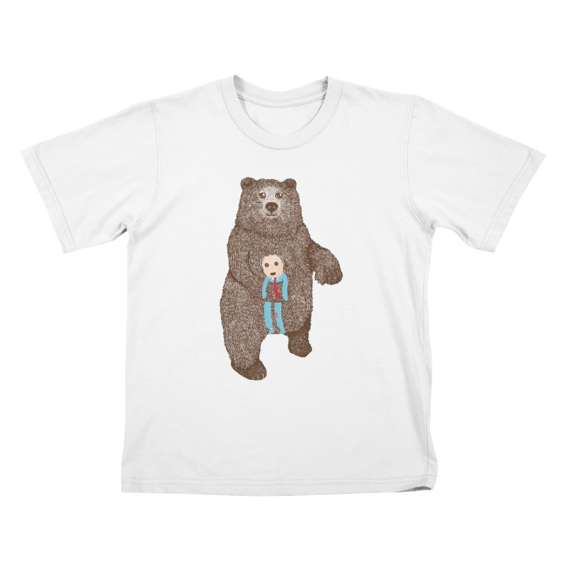 A Bear's Best Friend Kids T-shirt by The Illustration Booth Shop