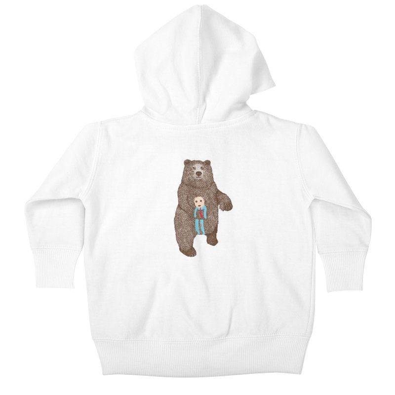 A Bear's Best Friend Kids Baby Zip-Up Hoody by The Illustration Booth Shop