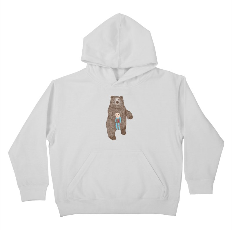 A Bear's Best Friend Kids Pullover Hoody by The Illustration Booth Shop