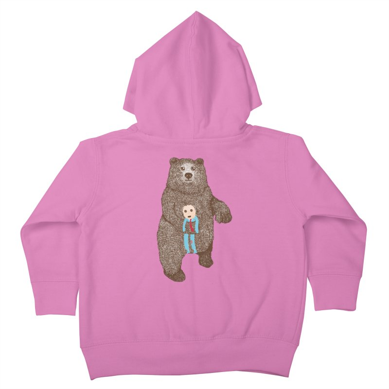 A Bear's Best Friend Kids Toddler Zip-Up Hoody by The Illustration Booth Shop