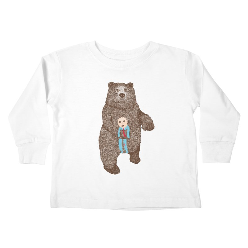 A Bear's Best Friend Kids Toddler Longsleeve T-Shirt by The Illustration Booth Shop