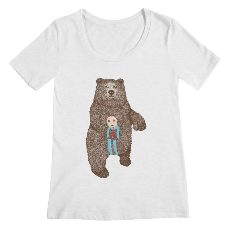 A Bear's Best Friend Women's Scoopneck by The Illustration Booth Shop