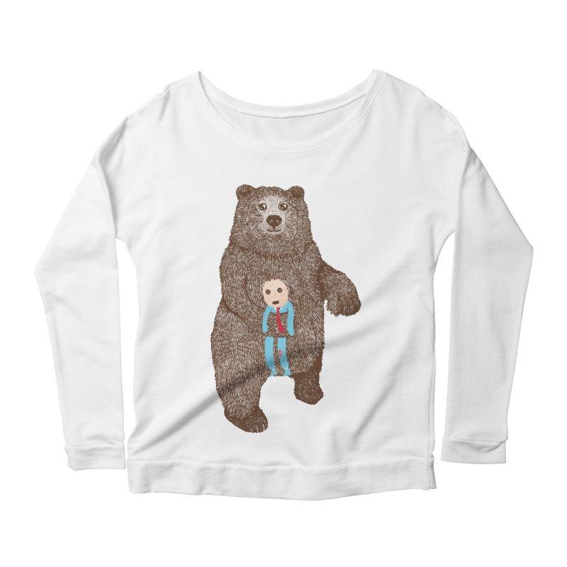 A Bear's Best Friend Women's Longsleeve Scoopneck  by The Illustration Booth Shop