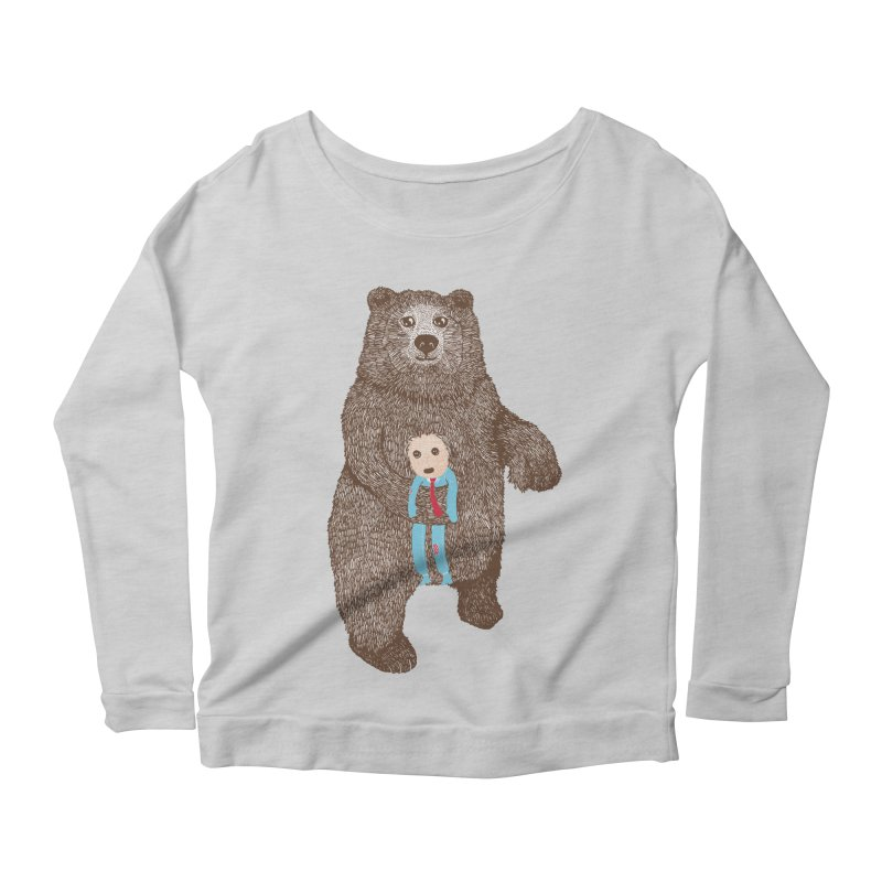 A Bear's Best Friend Women's Longsleeve Scoopneck  by The Illustration Booth Shop
