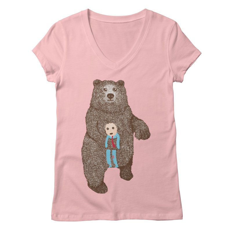 A Bear's Best Friend Women's V-Neck by The Illustration Booth Shop