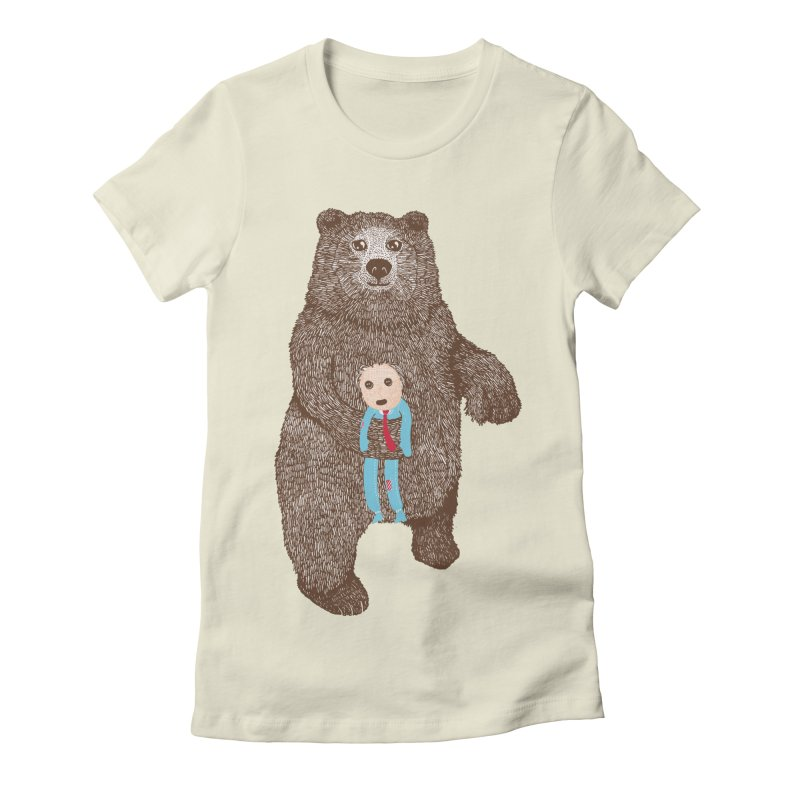A Bear's Best Friend Women's Fitted T-Shirt by The Illustration Booth Shop