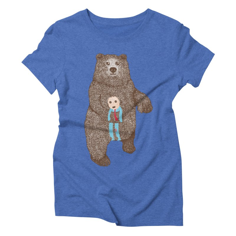 A Bear's Best Friend Women's Triblend T-shirt by The Illustration Booth Shop