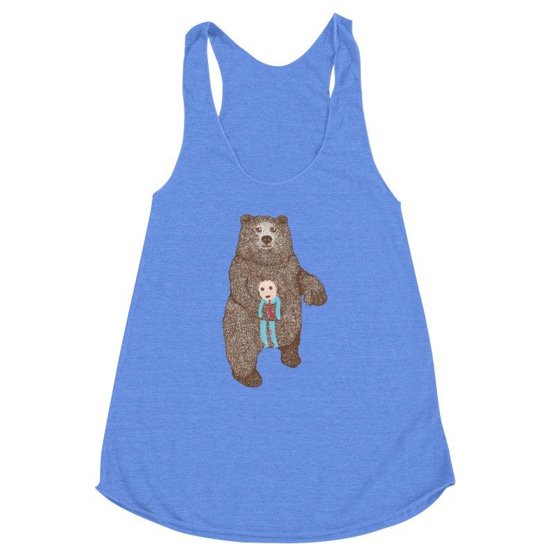 A Bear's Best Friend Women's Racerback Triblend Tank by The Illustration Booth Shop
