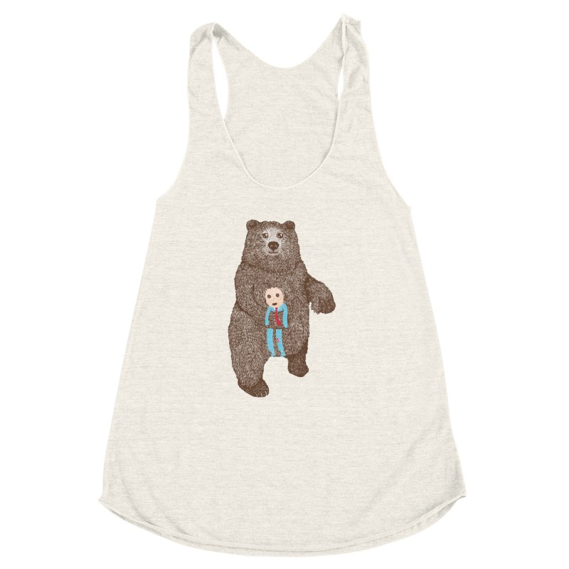 A Bear's Best Friend Women's Racerback Triblend Tank by The Illustration Booth Shop