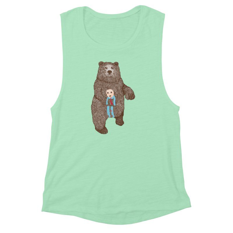 A Bear's Best Friend Women's Muscle Tank by The Illustration Booth Shop