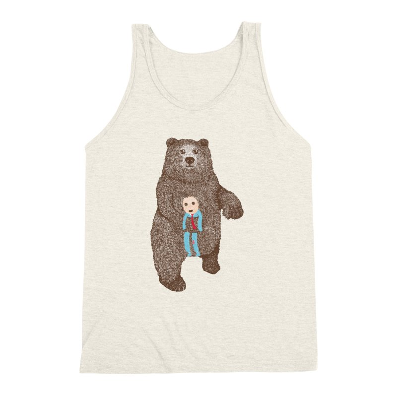 A Bear's Best Friend Men's Triblend Tank by The Illustration Booth Shop