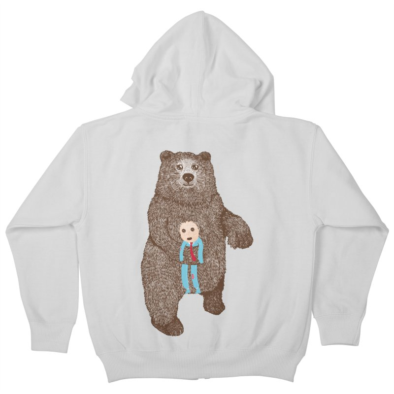 A Bear's Best Friend Kids Zip-Up Hoody by The Illustration Booth Shop