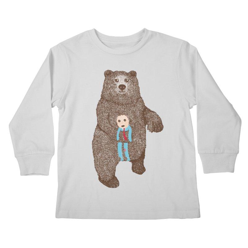 A Bear's Best Friend Kids Longsleeve T-Shirt by The Illustration Booth Shop