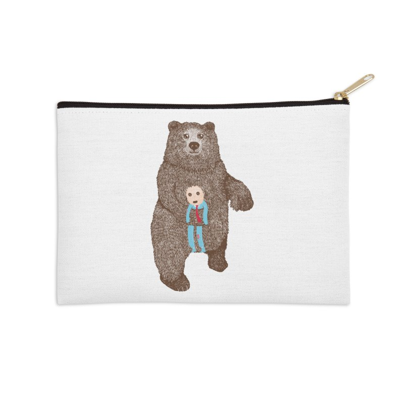 A Bear's Best Friend Accessories Zip Pouch by The Illustration Booth Shop