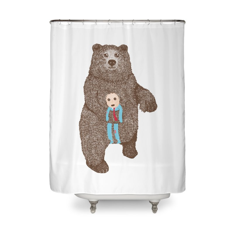 A Bear's Best Friend Home Shower Curtain by The Illustration Booth Shop