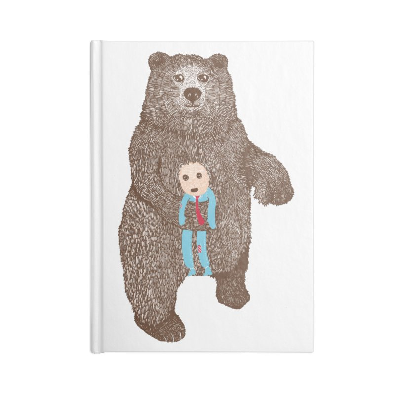 A Bear's Best Friend Accessories Notebook by The Illustration Booth Shop