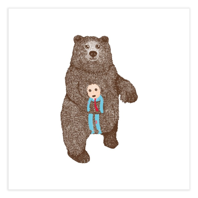 A Bear's Best Friend Home Fine Art Print by The Illustration Booth Shop