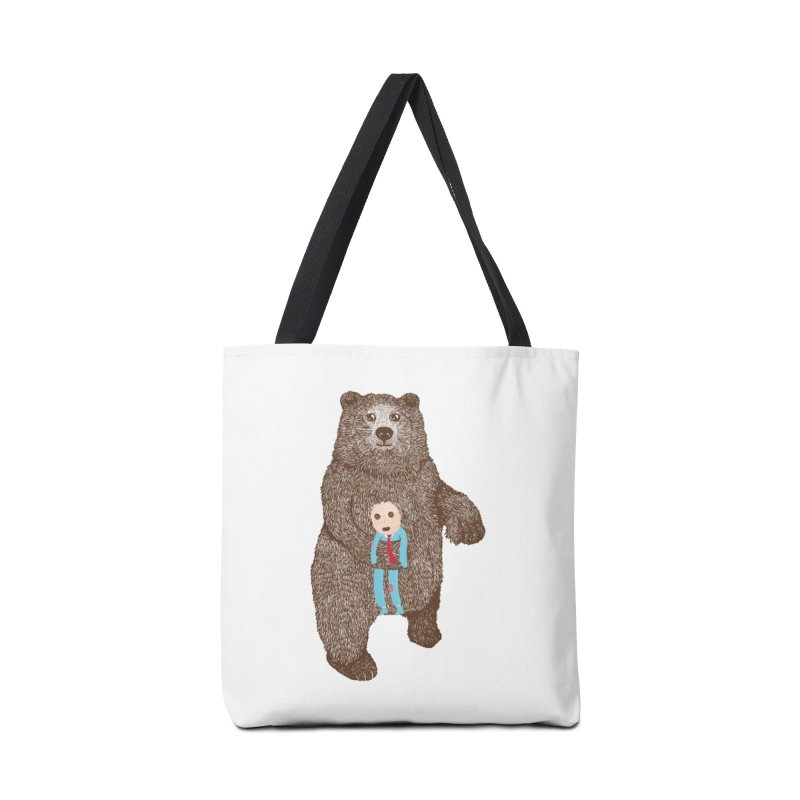 A Bear's Best Friend Accessories Bag by The Illustration Booth Shop