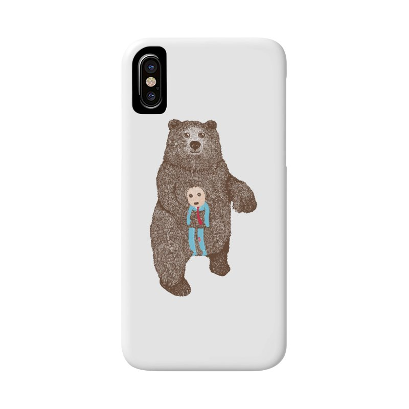 A Bear's Best Friend Accessories Phone Case by The Illustration Booth Shop
