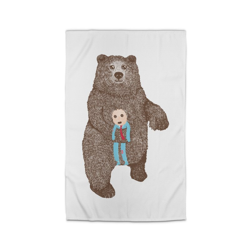 A Bear's Best Friend Home Rug by The Illustration Booth Shop
