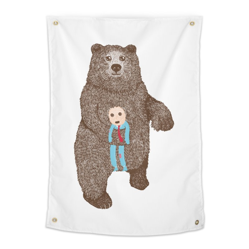 A Bear's Best Friend Home Tapestry by The Illustration Booth Shop