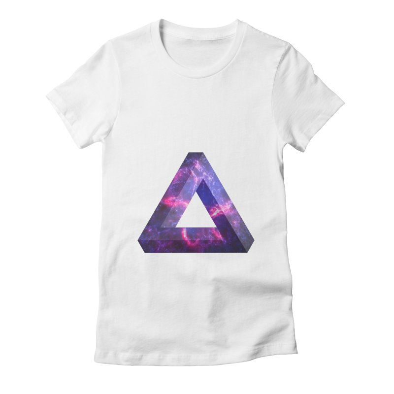Impossible Triangle  Women's Fitted T-Shirt by illusionist's Artist Shop