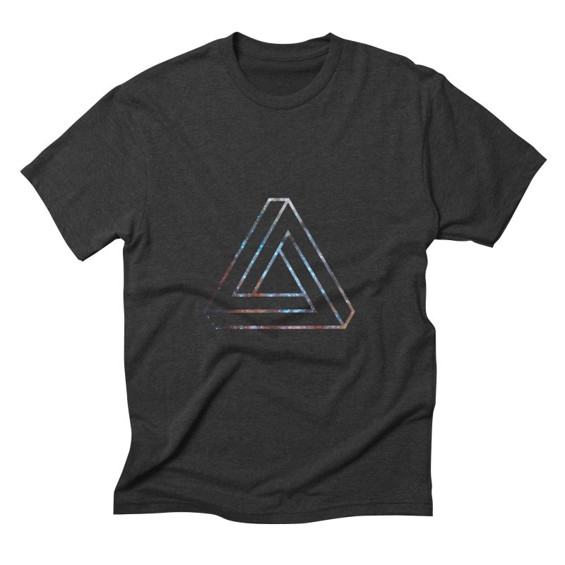 Impossible Triangle Lines Men's Triblend T-Shirt by illusionist's Artist Shop