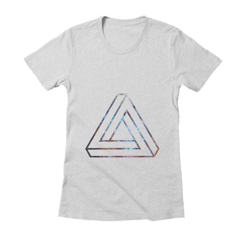 Impossible Triangle Lines Women's Fitted T-Shirt by illusionist's Artist Shop