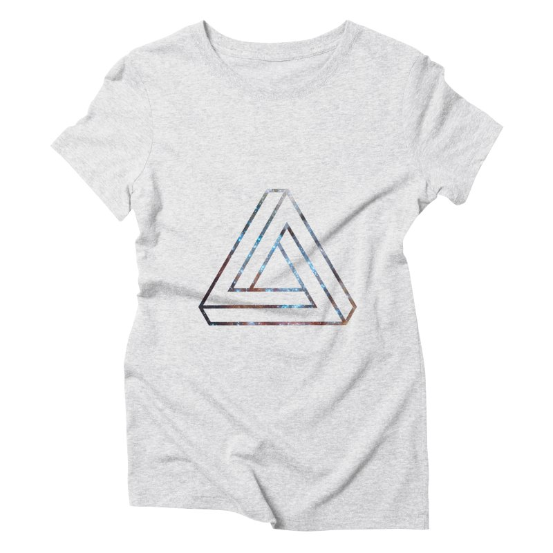 Impossible Triangle Lines Women's Triblend T-shirt by illusionist's Artist Shop