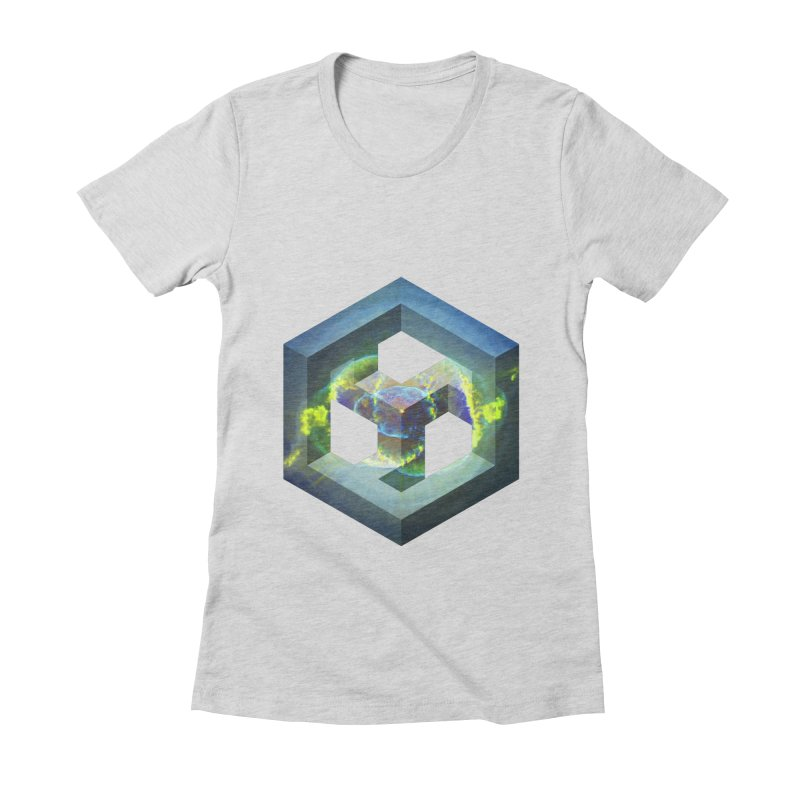 Impossible Galaxy Women's Fitted T-Shirt by illusionist's Artist Shop
