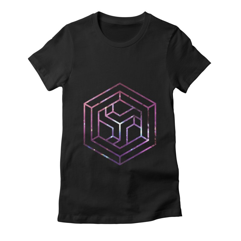 Impossible Galaxy Lines Women's Fitted T-Shirt by illusionist's Artist Shop