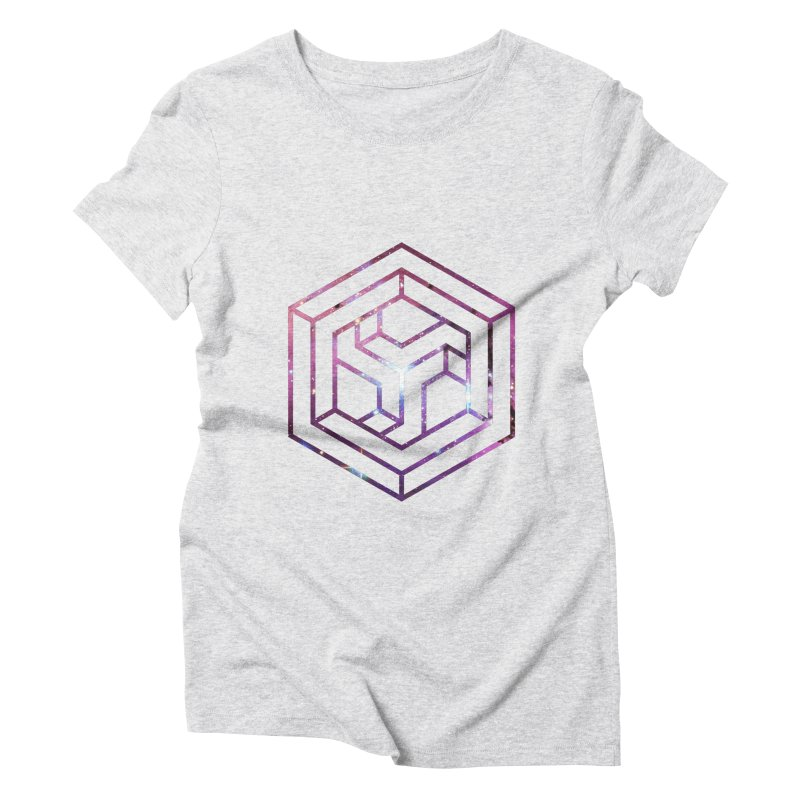 Impossible Galaxy Lines Women's Triblend T-Shirt by illusionist's Artist Shop