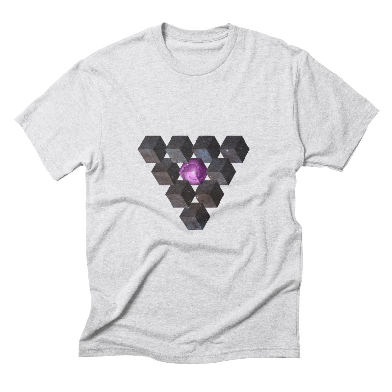 Pyramid Men's Triblend T-shirt by illusionist's Artist Shop