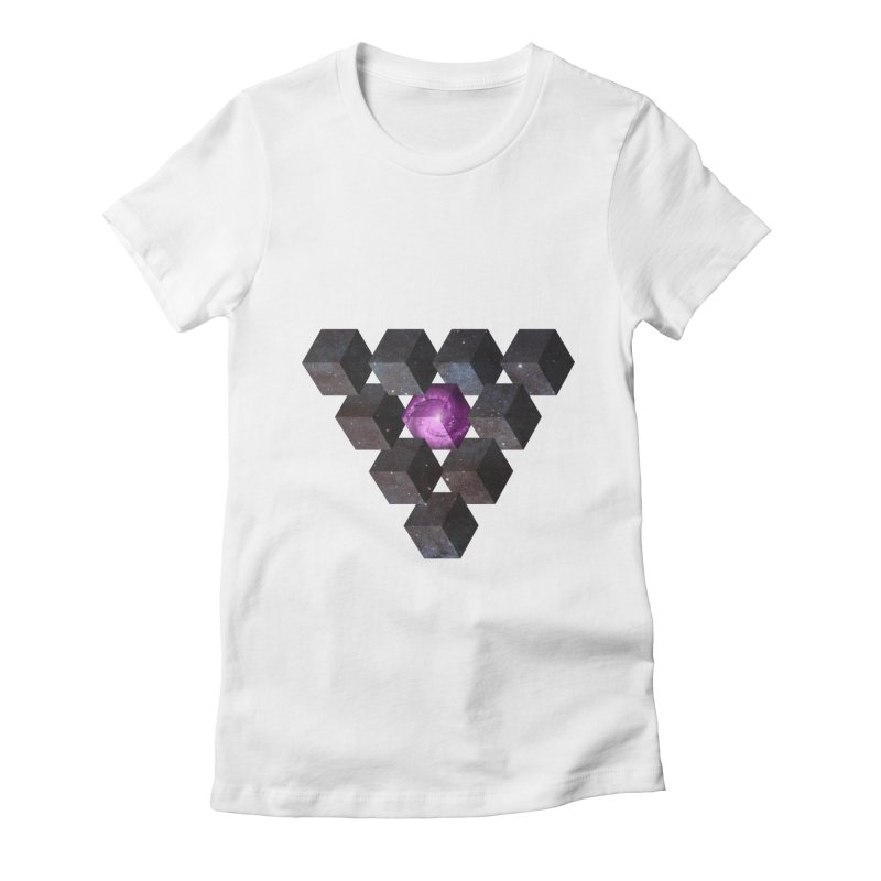 Pyramid Women's Fitted T-Shirt by illusionist's Artist Shop