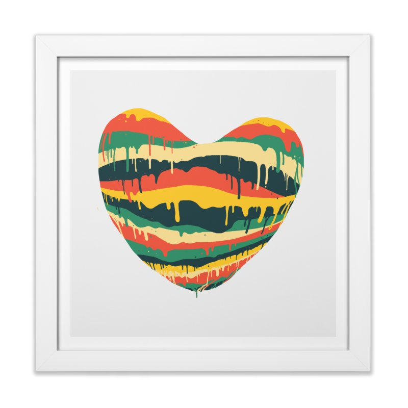 overlove Home Framed Fine Art Print by illustraboy's Artist Shop