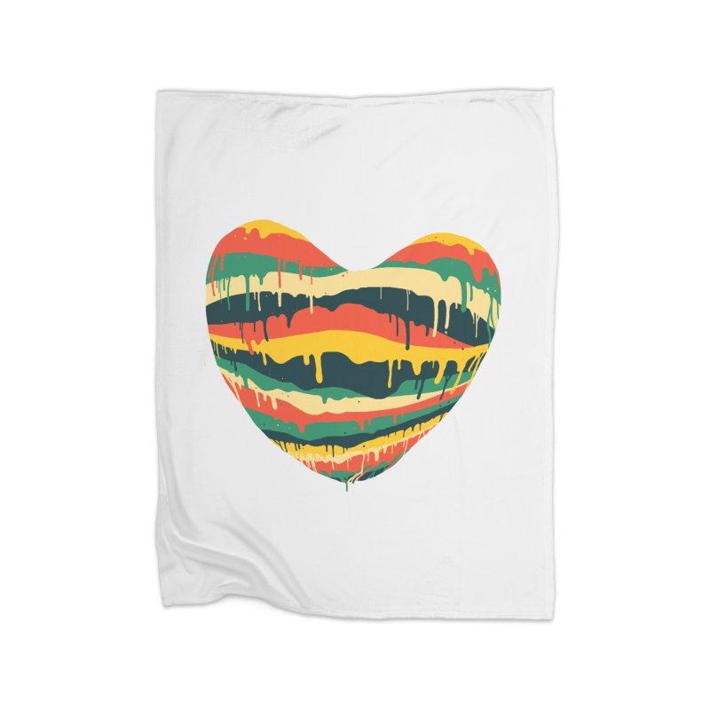 overlove Home Fleece Blanket Blanket by illustraboy's Artist Shop