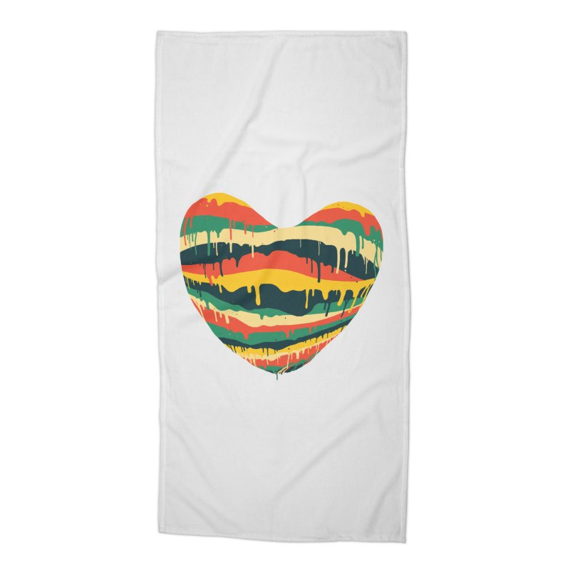 overlove Accessories Beach Towel by illustraboy's Artist Shop