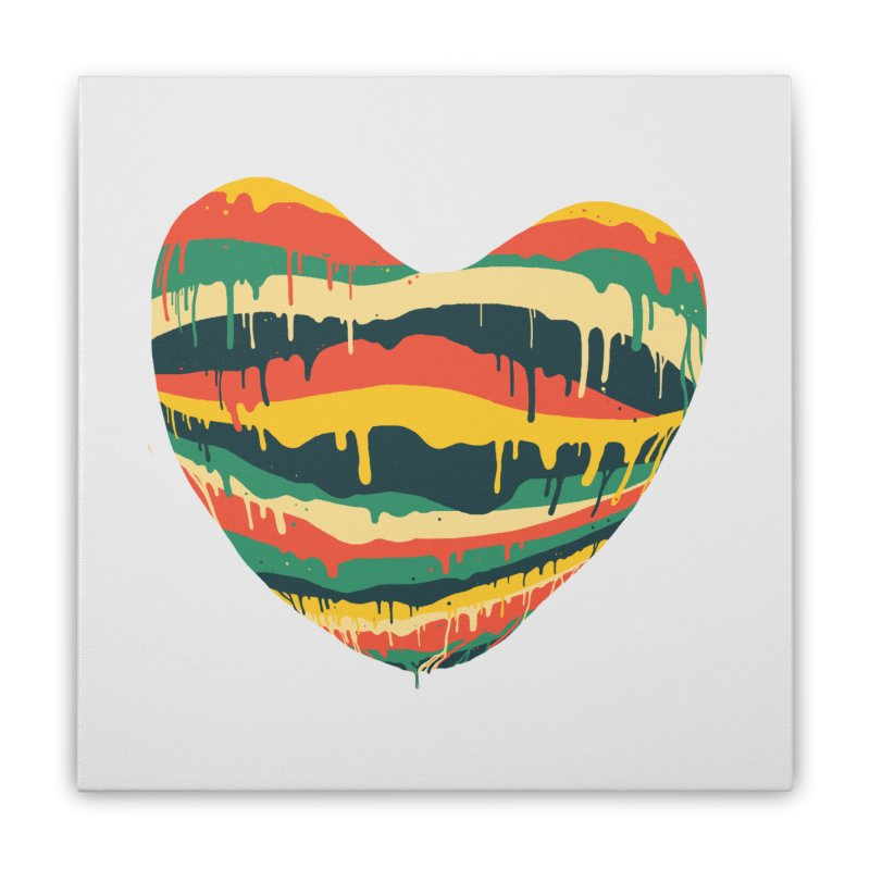 overlove Home Stretched Canvas by illustraboy's Artist Shop