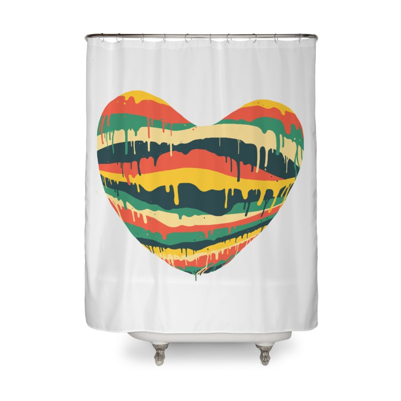 overlove Home Shower Curtain by illustraboy's Artist Shop