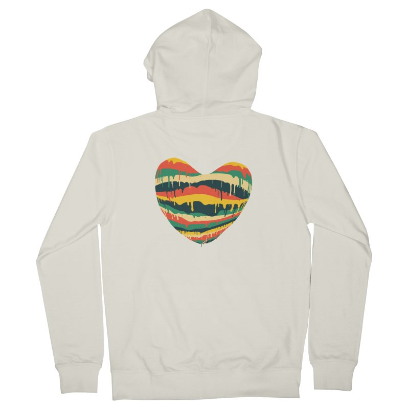 overlove Men's French Terry Zip-Up Hoody by illustraboy's Artist Shop