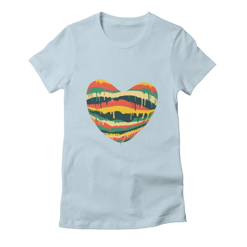 overlove Women's Fitted T-Shirt by illustraboy's Artist Shop