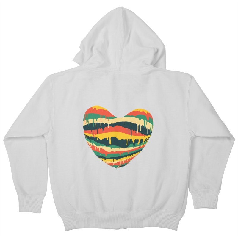 overlove Kids Zip-Up Hoody by illustraboy's Artist Shop