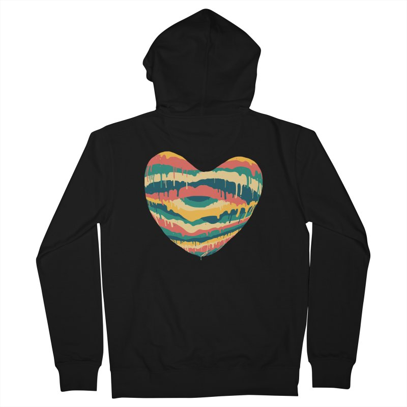Clear eye full heart Women's French Terry Zip-Up Hoody by illustraboy's Artist Shop