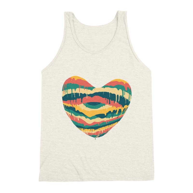 Clear eye full heart Men's Triblend Tank by illustraboy's Artist Shop