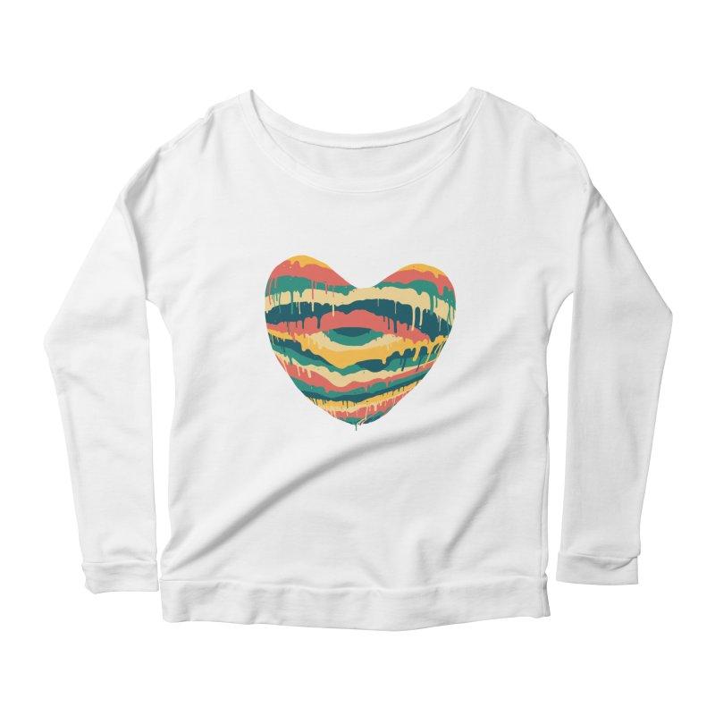 Clear eye full heart Women's Scoop Neck Longsleeve T-Shirt by illustraboy's Artist Shop